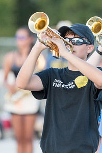 Tiger Band summer evening practice, Thursday, August 10th, 2017. Photo by Dave Wilson.