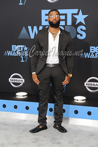 LOS ANGELES, CA - June 25: Celebrities, honorees, and guests arrive to the BET Awards at The Microsoft Theater on Sunday, June 25, 2017, in Los Angeles, CA, USA. (Photo by Aaron J /RedCarpetImages.net)