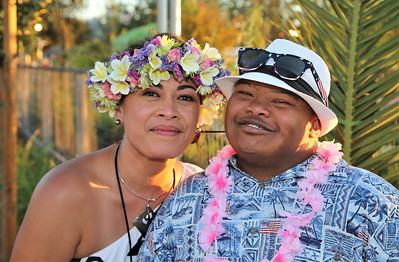 Taima Thompson and Malachi Shane at Becoming Independents 4th annual luau Held on Saturday September 23rd in Becoming Independents garden. Guests enjoyed Polynesian dancing, live music, raffles, signature drinks and luau feast while supporting vital programs in this fundraiser. (Photos Will Bucquoy for the Press Democrat).