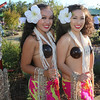 Polynesian girls welcome guests with a sea shell lei at Becoming Independents 4th annual luau Held on Saturday September 23rd in Becoming Independents garden. Guests enjoyed Polynesian dancing, live music, raffles, signature drinks and luau feast while supporting vital programs in this fundraiser. (Photos Will Bucquoy for the Press Democrat).