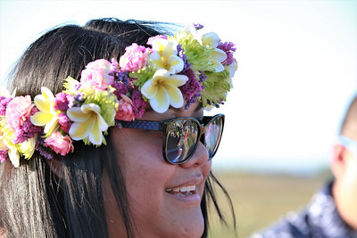 Nikkole Suka wearing a fresh floral wreath and sunglasses at Becoming Independents 4th annual luau Held on Saturday September 23rd in Becoming Independents garden. Guests enjoyed Polynesian dancing, live music, raffles, signature drinks and luau feast while supporting vital programs in this fundraiser. (Photos Will Bucquoy for the Press Democrat).