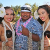 Malacai Shane and Polynesian Girls posing for photos at Becoming Independents 4th annual luau Held on Saturday September 23rd in Becoming Independents garden. Guests enjoyed Polynesian dancing, live music, raffles, signature drinks and luau feast while supporting vital programs in this fundraiser. (Photos Will Bucquoy for the Press Democrat).