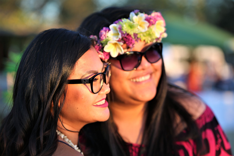 Hazel Rico and Nikkole Suka take in the setting sun at Becoming Independents 4th annual luau Held on Saturday September 23rd in Becoming Independents garden. Guests enjoyed Polynesian dancing, live music, raffles, signature drinks and luau feast while supporting vital programs in this fundraiser. (Photos Will Bucquoy for the Press Democrat).