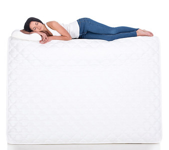 //www.dreamstime.com/stock-photo-sleeping-young-woman-lying-mattress-isolated-white-background-side-view-image48029840