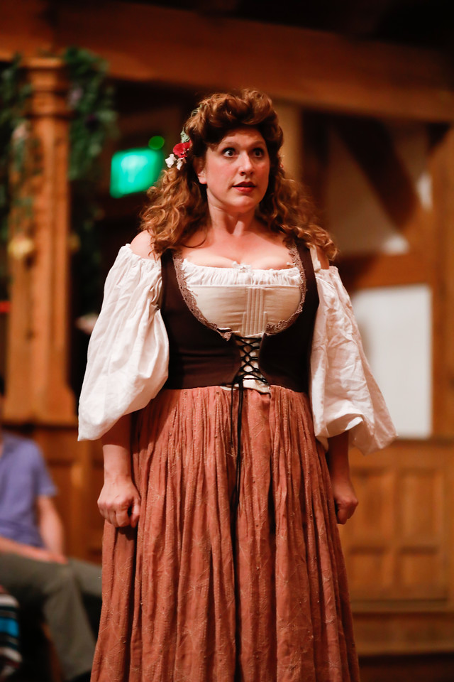 Allison Glenzer as Jaquenetta in LOVE'S LABOUR'S LOST. Photo by Lindsey Walters.