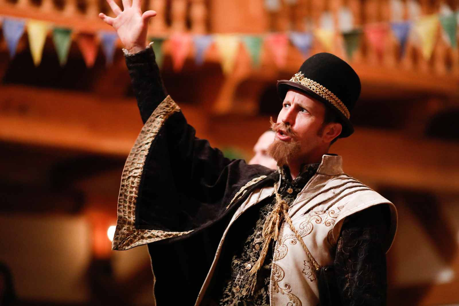 Chris Johnston as Don Armado in LOVE'S LABOUR'S LOST. Photo by Lindsey Walters.