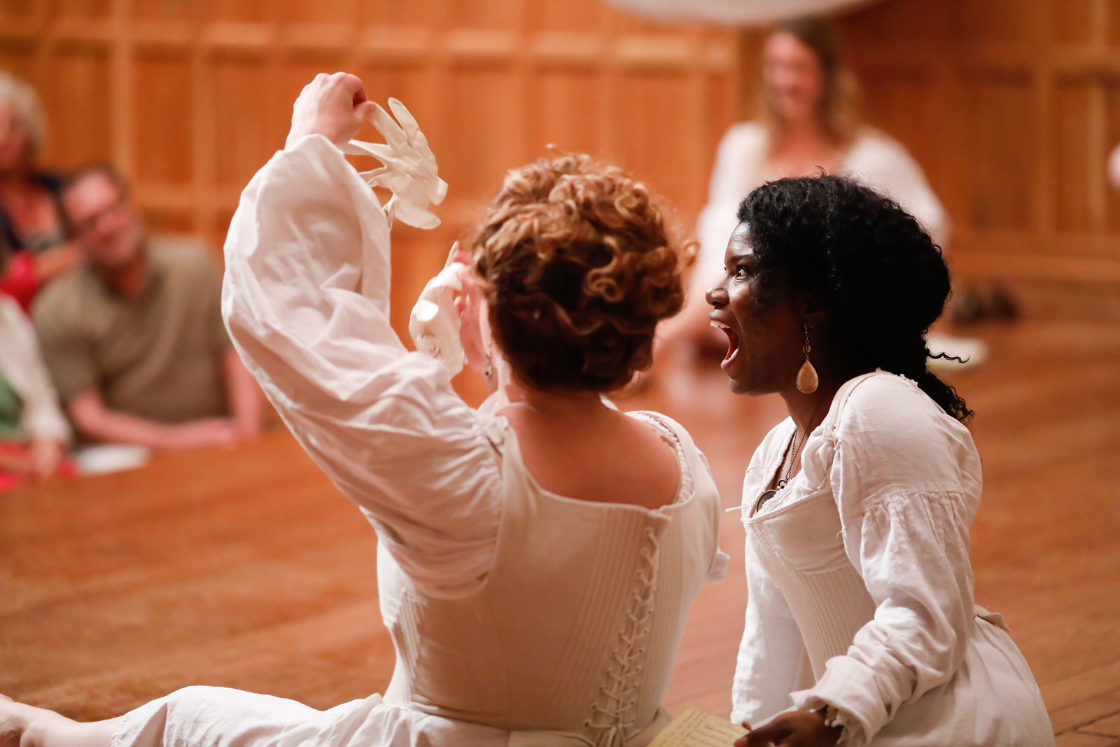 Allison Glenzer as Katherine and Shunté Lofton as Princess of France in LOVE'S LABOUR'S LOST. Photo by Lindsey Walters.