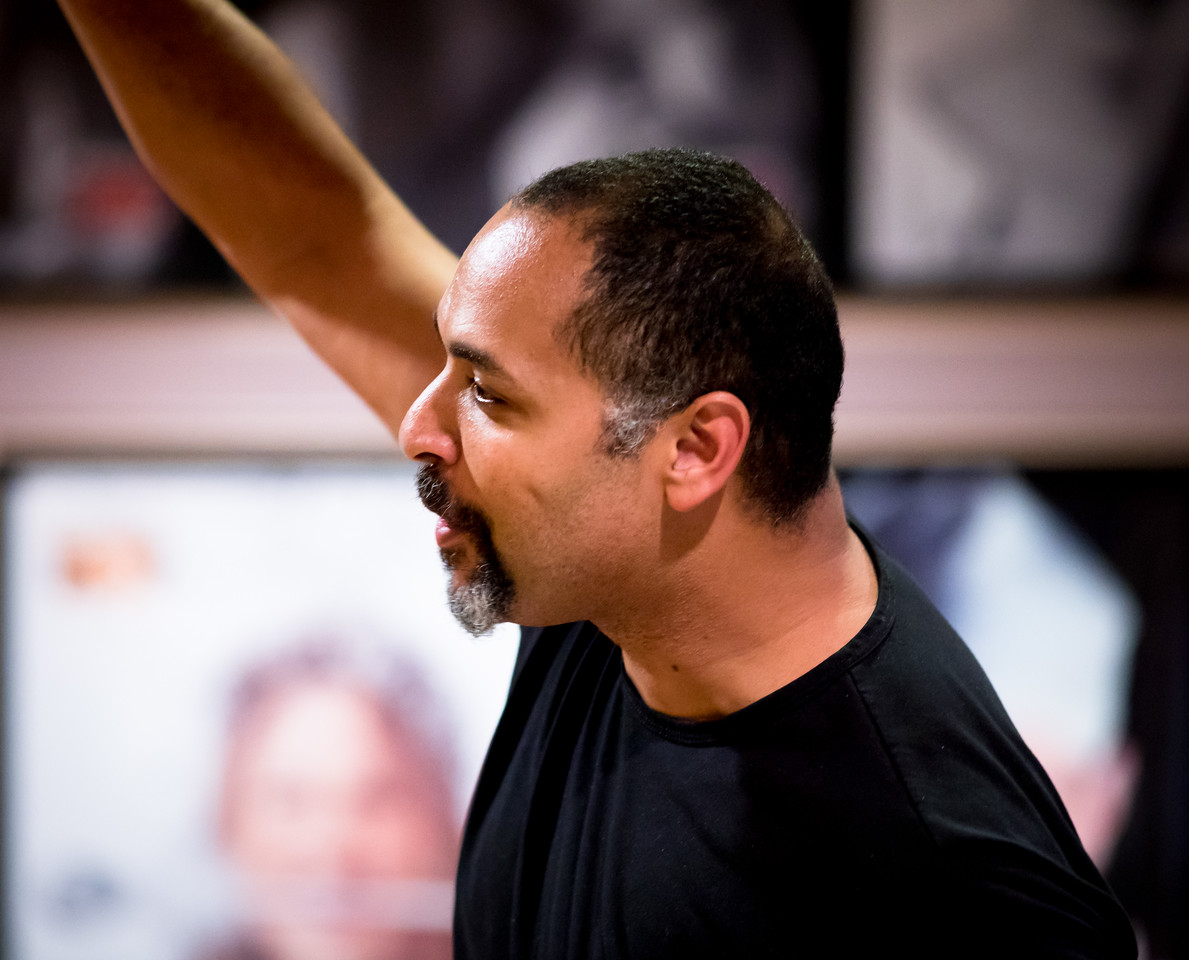 René Thornton, Jr. (Berowne) in rehearsal for LOVE'S LABOUR'S LOST. Photo by Jay McClure.