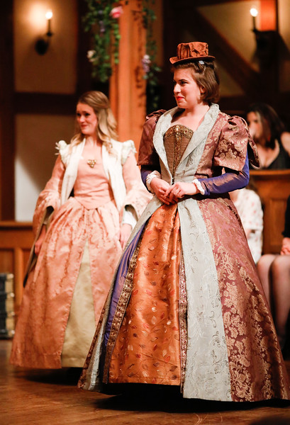 Lauren Ballard as Maria and Allie Babich as Rosaline in LOVE'S LABOUR'S LOST. Photo by Lindsey Walters.