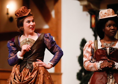 Allie Babich as Rosaline and Shunté Lofton as Princess of France in LOVE'S LABOUR'S LOST. Photo by Lindsey Walters.