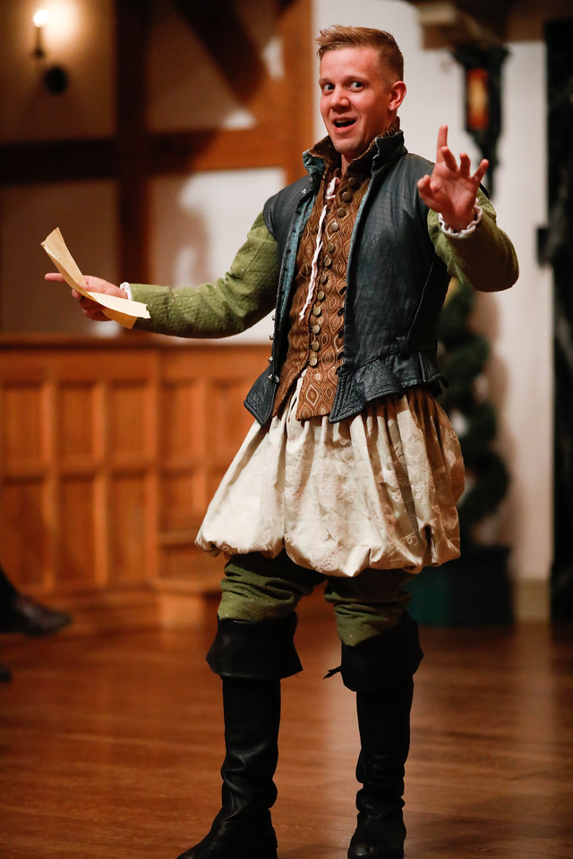 Benjamin Reed as Longaville in LOVE'S LABOUR'S LOST. Photo by Lindsey Walters.