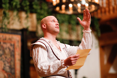 Greg Brostrom as King of Navarre in LOVE'S LABOUR'S LOST. Photo by Lindsey Walters.