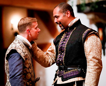 Benjamin Reed as Claudio and René Thornton, Jr. as Don Pedro in MUCH ADO ABOUT NOTHING. Photo by Lindsey Walters.