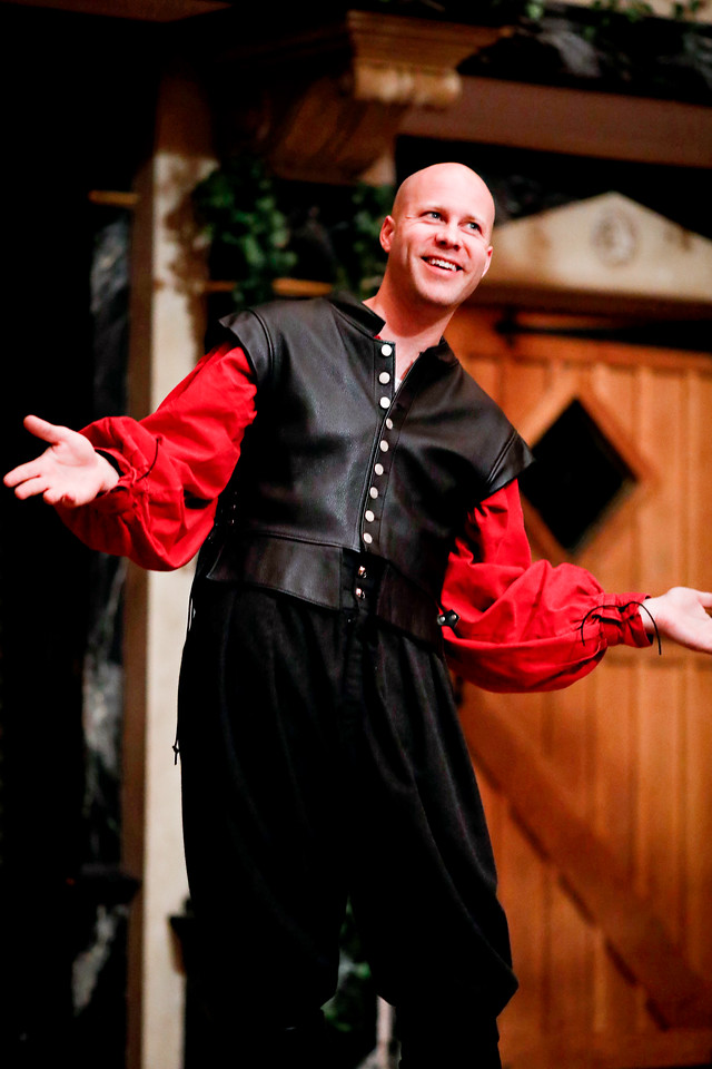 Greg Brostrom as Borachio in MUCH ADO ABOUT NOTHING. Photo by Lindsey Walters.