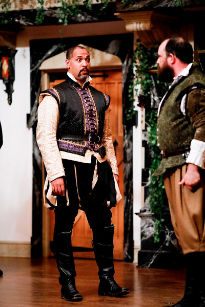 René Thornton, Jr. as Don Pedro and David Anthony Lewis as Benedick in MUCH ADO ABOUT NOTHING. Photo by Lindsey Walters.