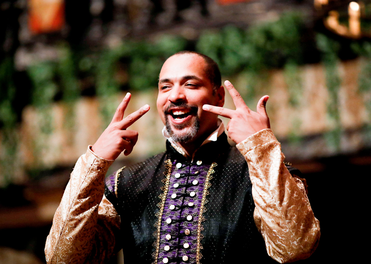 René Thornton, Jr. as Don Pedro in MUCH ADO ABOUT NOTHING. Photo by Lindsey Walters.