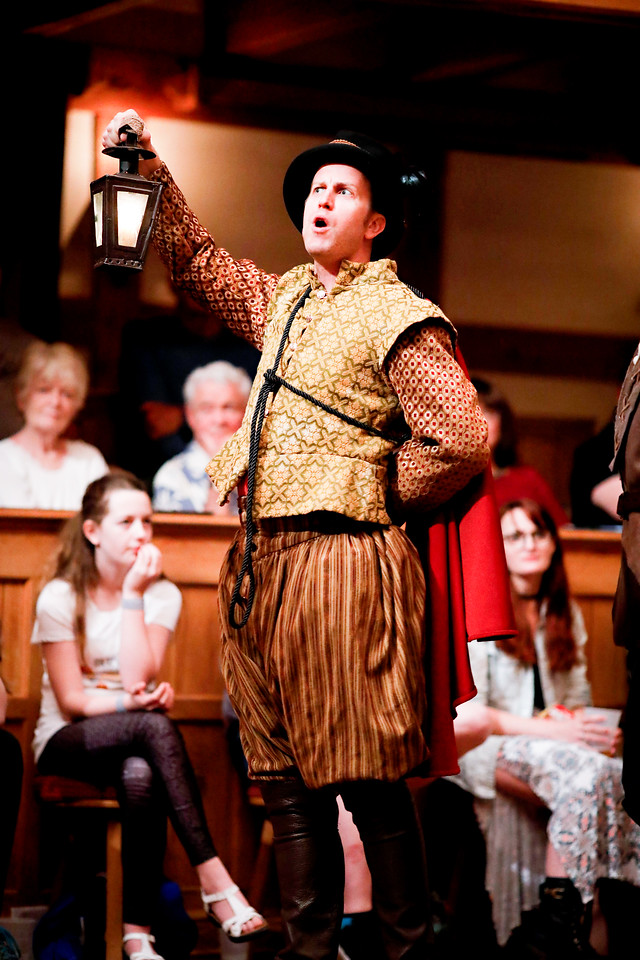 Chris Johnston as Dogberry in MUCH ADO ABOUT NOTHING. Photo by Lindsey Walters.