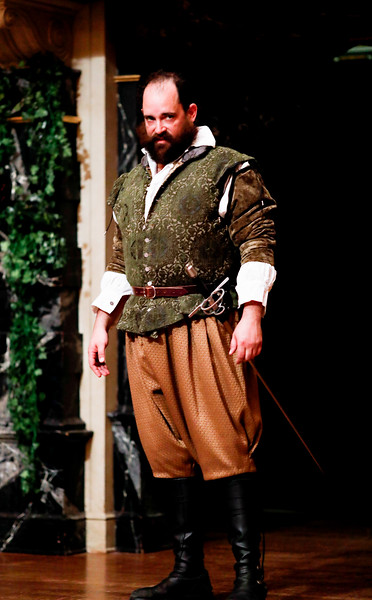 David Anthony Lewis as Benedick in MUCH ADO ABOUT NOTHING. Photo by Lindsey Walters.