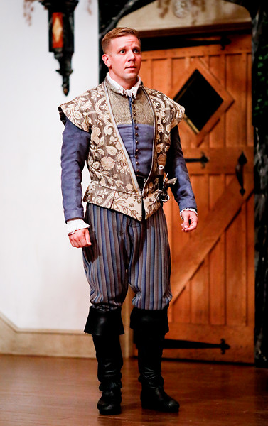 Benjamin Reed as Claudio in MUCH ADO ABOUT NOTHING. Photo by Lindsey Walters.
