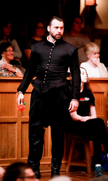 Josh Innerst as Don John in MUCH ADO ABOUT NOTHING. Photo by Lindsey Walters.