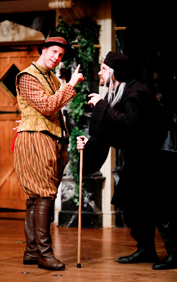 Chris Johnston as Dogberry and Josh Innerst as Verges in MUCH ADO ABOUT NOTHING. Photo by Lindsey Walters.