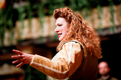 Allison Glenzer as Beatrice in MUCH ADO ABOUT NOTHING. Photo by Lindsey Walters.