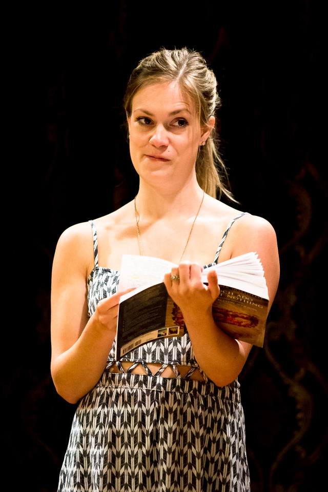 Lauren Ballard (Hero) in rehearsal for MUCH ADO ABOUT NOTHING.  Photo by Jay McClure.