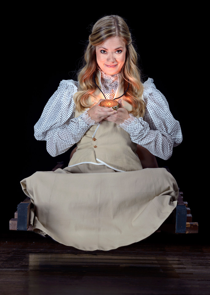 Lauren Ballard as Molly Aster in PETER AND THE STARCATCHER.  Photo by Michael Bailey.