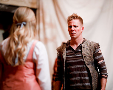 Benjamin Reed as Peter and Lauren Ballard as Molly Aster in PETER AND THE STARCATCHER. Photo by Lindsey Walters.