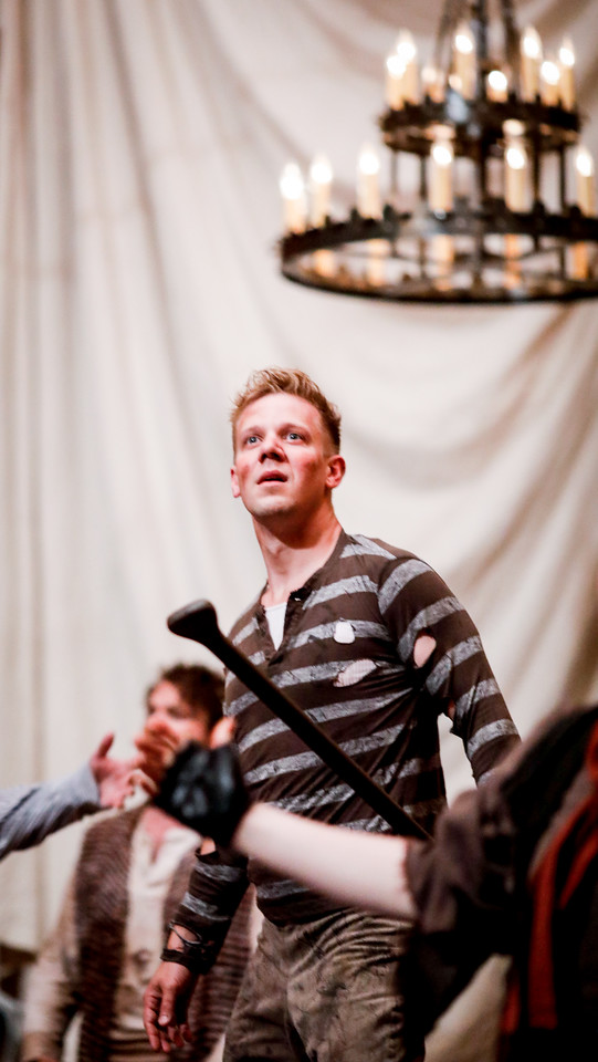 Benjamin Reed as Peter and Josh Innerst as Ted in PETER AND THE STARCATCHER. Photo by Lindsey Walters.