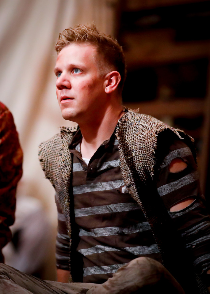 Benjamin Reed as Peter in PETER AND THE STARCATCHER. Photo by Lindsey Walters.