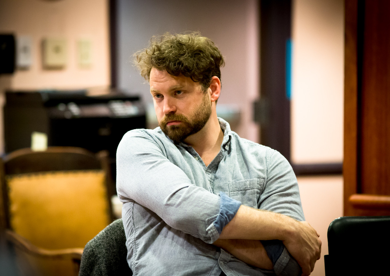 Josh Innerst (Ted) in rehearsal for PETER AND THE STARCATCHER. Photo by Jay McClure.