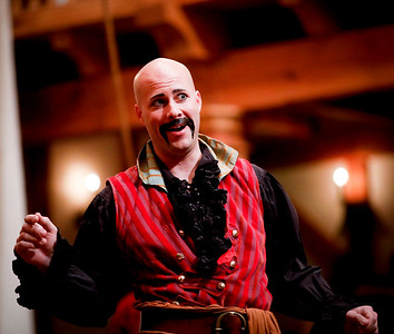 Greg Brostrom as Black Stache in PETER AND THE STARCATCHER. Photo by Lindsey Walters.