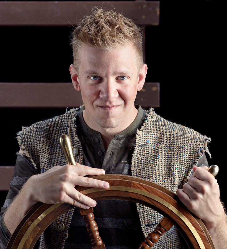 Benjamin Reed as Peter in PETER AND THE STARCATCHER.  Photo by Michael Bailey.