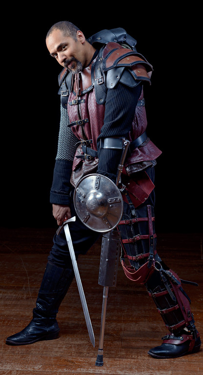 René Thornton, Jr. as Richard in THE FALL OF KING HENRY (HENRY VI, PART 3).  Photo by Michael Bailey.