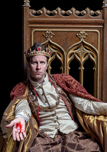 Chris Johnston as Henry in THE FALL OF KING HENRY (HENRY VI, PART 3).  Photo by Michael Bailey.