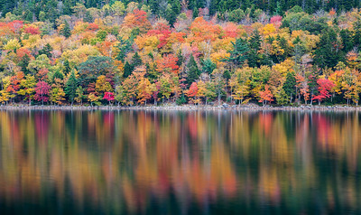 Jordan Pond reflecting