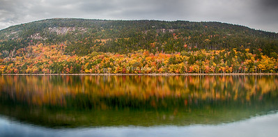 Jordan Pond reflecting 2