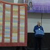 Rosemary Nester and Janet Scott presented these quilts that will be donations for Bobbi.  This is another case of expanding scraps.