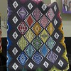 "Quilt by Carol Meyers.  Carol also told us that while she was working on it, a little nephew came to her and said  ""Aunt Carol, I hope that when I am old like you, that I have something that I am as passionate about as your are about quilting"".  Quilting by Kari Smith/"