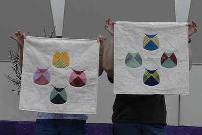 Cathy Skelton - showed us her leftover Owls from her Breavement Quilt project.
