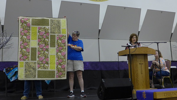 Char Ezell and Fred Diehl design quilts but not this one.  It is a failed attempt to make a One-fabric wonder.  They call it Ovid Too as the fabrics were purchased from Elaine's Too in Ovid.