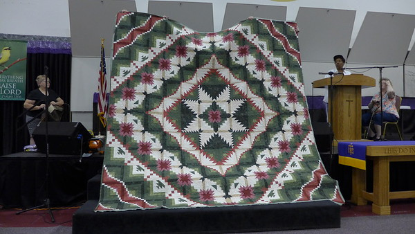 Lavern McCarthy - this quilt is a quilt that she had made two years ago and her sister took it.  so this is Lavern's.