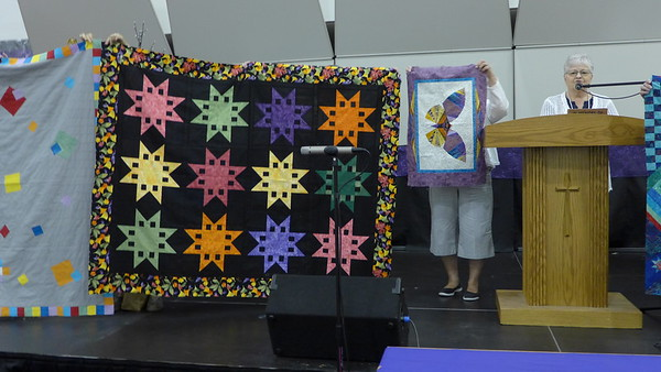 Janet Scott - Charming Ladies - August of 2016 they did a brown bag fabric exchange.  These quilts are the result of the exchange.