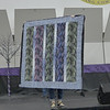 Char Ezell showed this quilt made from a collection of fabrics that reminded her of birch leaves.  Quilted by Nancy Boyse.