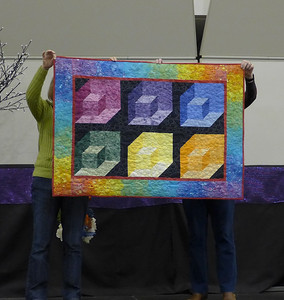 Kathy Kittle took the class from karen Combs and this is the baby quilt she made.  Quilted by Kathy Kittle.