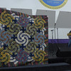 Carol Meyers - Viewer's choice award.  Judy Niemeyer pattern called tumbleweed.  Quilted by Lois Walker.