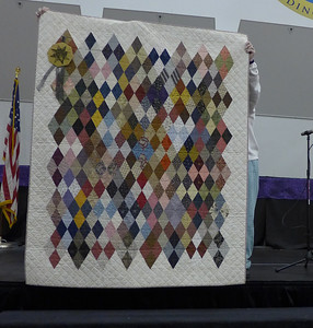 Geri Smith received an award for Best Use of Reproduction Fabrics.
