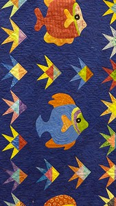 Fish Frenzy made by Vernita Dailey and Sharon Wexler.  Quilted by John Putnam