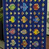 Fish Frenzy made by Vernita Dailey and Sharon Wexler.  Quilted by John Putnam.  Quilt size is 60 x 79